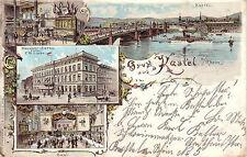 AK  Kastel Mainz Rheinland Pfalz Bahnhof-Hotel Litho gelaufen 1902