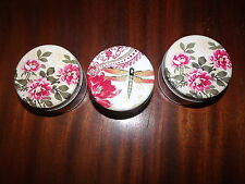 3 parafin wax candles-votive-metal multi-color jars- BetterHomes&Gardens-Vanilla