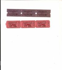 2 Strips of 1960's Pacific Ocean Park(POP)Admission & Ride Tickets
