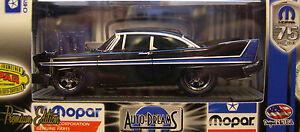 BLACK 1958 PLYMOUTH FURY GROUND POUNDER M2 MACHINES 1:64 SCALE DIECAST METAL CAR