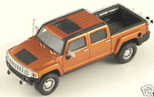 SPARK S0867 - HUMMER H3T 2008 DESERT ORANGE METAL  - 1/43
