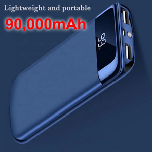 90,000mAh Ultra thin,Portable Power Bank for all Android and iOS Phones.