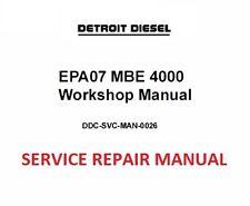 Detroit Diesel EPA07 MBE 4000 Engine  Workshop Service Manual 2010 + (on CD )