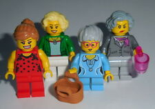 T.V. Lego The Golden Girls Dorothy, Rose, Blanche, Sophia Custom Genuine Parts