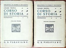 Cesare Tropea, Corso di Storia (2 voll.), Ed. Paravia, 1937