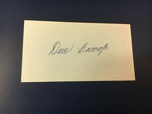 orig. BASEBALL HALL OF FAMER DAVE BANCROFT ACTUALLY SIGNED INDEX CARD (D. 1972)