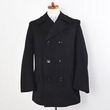 CLASSIC Peacoat Militär Uniform Grau Grey Wolle Wool Gr 48 Handmade Military Win