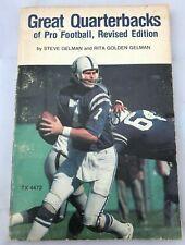 Great Quarterbacks of Pro Football Paperback  1978 Scholastic