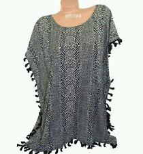 Victoria s Secret Beach Dress Cover Up Tunic Fringe Caftan Studs Tassel  Trim M 42140f3b4