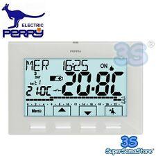 3S Cronotermostato settimanale NEXT PERRY 1CRCR028B a BATTERIA RETROILLUMINATO
