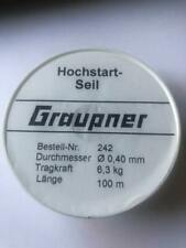 GRAUPNER 242 - TOW LINE 0.4MM- 100 METER LINE FOR R/C MODEL AIRCRAFT