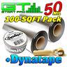 GTMat Pro 50mil 100sqft Bulk Pack Car Audio Sound Deadener+ DynaTape + Roller