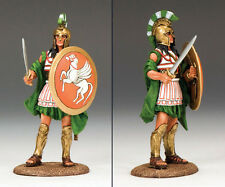 King & Country - Ancient Warriors Greek Hoplite Soldier w/ Sword AG004