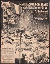 Catalogue. Maison Robert. Feux d'artifices. Tain l'Hermitage. 1931