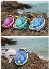 New Full Face Snorkel Masks Snorkeling Swimming Adults Kids - Usa Shipper New