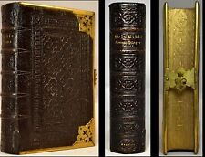 BAGSTERS POLYGLOT BIBLE COMMON PRAYER GAUFFERED EDGES MAPS CLASP BANDED ANTIQUE