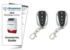 Response Alarms SAR E / SAURC Premium Executive Remote 433MHz /TWIN PACK & GUIDE