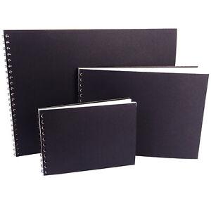 A6, A5, A4, A3 Scrapbook/Sketchbook, Landscape, DIY Photo Album, Cartridge Paper