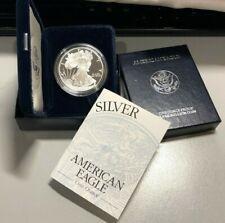 1998 U.S. American Proof .999 Silver American Eagle 1 oz Coin, COA, OrigBoxes