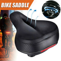 Breathable Cruiser Road Bike Bicycle Soft Wide Big Bum Saddle Seat Cushion Pad