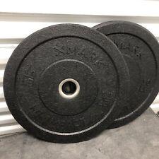 (2) 10lb XMark Go-Green Bumper Plates Hi-Impact Commercial Olympic Bumper Plates