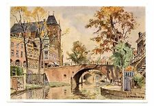 Utrecht Bridge Netherlands Postcard Art Reproduction H. E. Roodenburg Bruggen Te