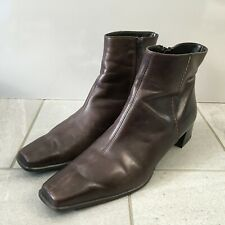PAUL GREEN Ankle Boots Brown Leather Womens Size UK 5.5 Handmade
