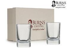 More details for burns handcrafted crystal dram shot glass pair, set of 2 - square design, 2oz