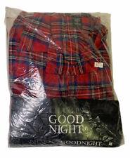 New Vintage Charles Good Night Size XL Pajama Robe Shirt 100% Cotton