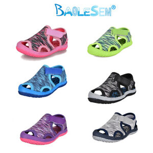 Boys Girls Soft Canvas Shoes Slippers Trainers Sandals Baby kids Toddler Size UK