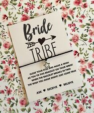 Hen Party Favours! BRIDE TRIBE Wish String bracelet! UK Seller! BUY 5 GET 1 FREE