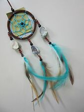 Stunning Blue/Brown Butterfly Shell 6cm Web Dream Catcher 30cm Total Length