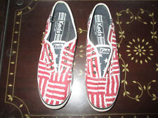 Keds Red White And Blue Patterned Keds Slip On Tennis Shoes Size 8 1/2 Worn