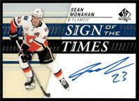 2019-20 UD SP Authentic Sign of the Times Auto #SOTT-MO Sean Monahan