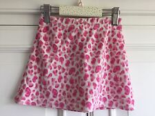George 2-3 yr Girls Skirt, Simple sweet short pink velour, leopard layering warm