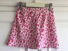 2-3 yr sweet short pink skirt girl velour, leopard print, layering George