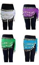 Para Mujeres Cinturón de Danza del Vientre Hip Bufanda de moneda