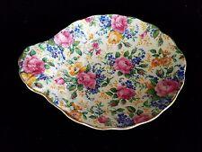 James Kent ROSALYNDE Chintz Embossed Floral Tab Handled Bowl Vintage UNUSUAL