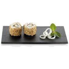 10 x mini rectangulaire Plateau sushi noir texturé plaque AT189 180 x 90, K8B