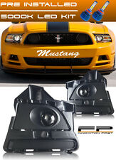 2013 14 FORD MUSTANG V6 GT BOSS 302 Clear Projector Fog Light Complete Kit + LED