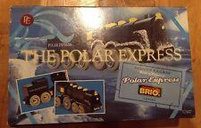 New The Polar Express BRIO~ Wooden Railway~ Motorized Engine &Tender 2pc w Light