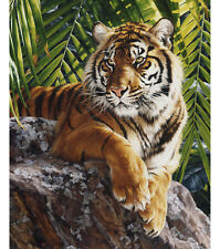 NEW BENGAL TIGER IN JUNGLE FOR QUILT WALL HANGING OR OTHER HOME DECOR PROJECT