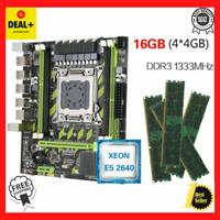 Kllisre X79 X79G motherboard Xeon LGA2011 E5 2640 C2 4x4GB 1333MHz DDR3 ECC REG