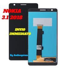 DISPLAY LCD +TOUCH SCREEN NOKIA per 3.1 2018 TA-1063 NERO VETRO SCHERMO NUOVO