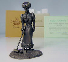 Vtg Pewter Gibson Girl Figure Croquet Franklin Mint American People Gilded Age!