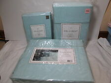 FIELDCREST CLASSIC FULL DUVET Cover, Full Sheet Set & Bedskirt ~ Light BLUE NEW