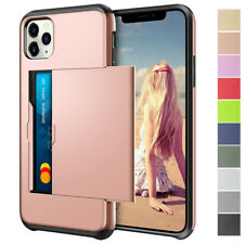 For iPhone 11 Pro X XR XS Max 6 7 8 Plus Shockproof Card Slot Wallet Case Cover