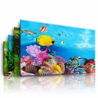 Double Side Aquarium Ocean Landscape Poster Fish Tank Backgrounds Film Sticker