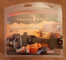 Trophy Ridge Micro Alpha V3 Sight - Micro-Adjusts - includes light - New