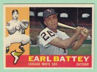 1960 Topps # 328 Earl Battey - Chicago White Sox -- Box 722-224